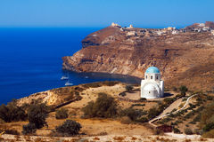 Small church in southern Santorini Stock Photos