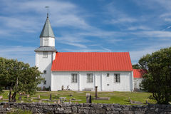 Small church in Sweden. A small church on the swedish island of Käringön Royalty Free Stock Photography