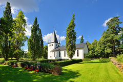 A small church on the swedish Royalty Free Stock Photos