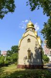 Small church on the territory of the Novodevichy Con Stock Images