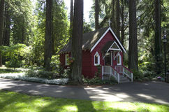 Small Church. A tiny church hidden in the forest royalty free stock image