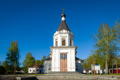 Small church tower Royalty Free Stock Photos