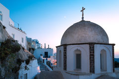 Small church. Typical Greek orthodox church in Fira, Santorini Royalty Free Stock Photo