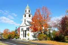 Small church in typical New England town Royalty Free Stock Image