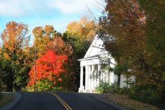 Small church in Vermont Royalty Free Stock Photo