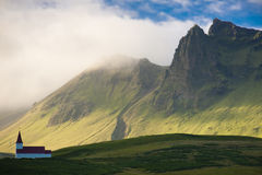 Small church in Vik - Iceland Stock Images