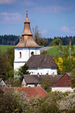 Small church in village Royalty Free Stock Photos