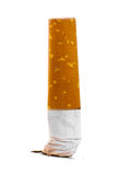 Small cigarette end isolated over white Royalty Free Stock Photo