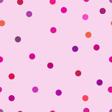 Small circles in  pink and purple colors. Cute polka dot. Royalty Free Stock Images