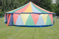 Small Circus Tent. Small Colorful Circus Tent Alone in a Field Royalty Free Stock Photos