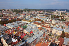 Small city from the bird view Stock Photography