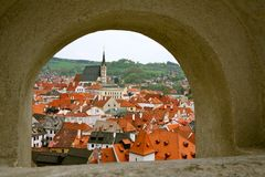 Small city of the Czech Republic Stock Photography