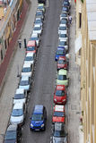Small city of Nice, parked cars. Royalty Free Stock Photo