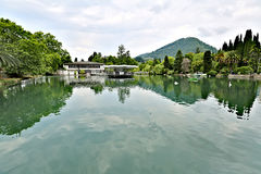 Small city pond Stock Image
