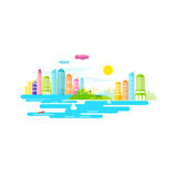 Small City Vector Royalty Free Stock Images