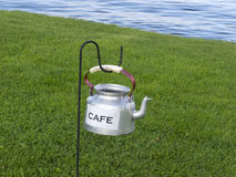 Small classic kettle Stock Images
