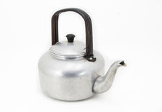Small classic kettle for camping isolated on white background Stock Images