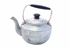 Small classic kettle for camping isolated on white background Royalty Free Stock Photo