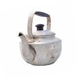 Small classic kettle for camping isolated on white background Stock Image