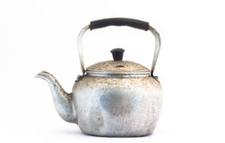 Small classic kettle for camping  Stock Images