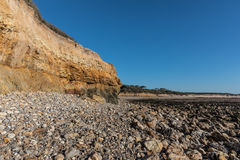 Small cliffs on la Pointe du Payre in Vendee France Royalty Free Stock Photo