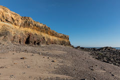 Small cliffs on la Pointe du Payre in Vendee France Royalty Free Stock Image