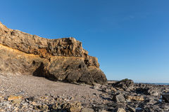 Small cliffs on la Pointe du Payre in Vendee France Stock Images