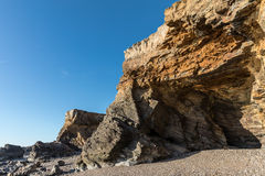 Small cliffs on la Pointe du Payre in Vendee France Royalty Free Stock Images
