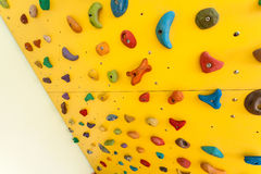 Small climbing wall for children Royalty Free Stock Photo