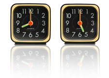 Small clocks showing 8 to 5 Stock Image
