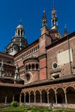Small cloister of the Certosa di Pavia monastery, Italy Stock Photography