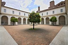 Small cloister of the Charterhouse also known as the Chiostrino royalty free stock photos