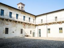 Small cloister in Monastery of Santa Giulia stock images