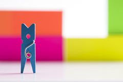 Small clothespin Stock Image