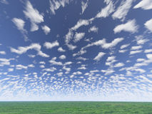 Small clouds royalty free stock photography