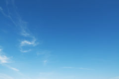 Small clouds in the blue sky Royalty Free Stock Photos