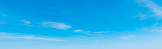 Small clouds and blue sky Royalty Free Stock Image