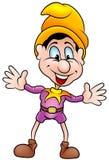 Small Clown. B - humorous cartoon clown as vector Stock Image