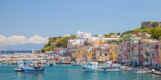 Small coastal Italian town with colorful houses Royalty Free Stock Photography