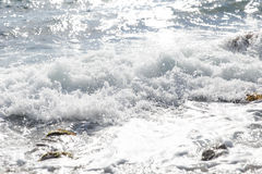 Small coastal sea waves summer Royalty Free Stock Photo