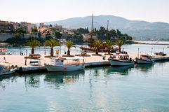 Small coastal town of Greek Stock Image