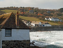 Cornwall - Coverack In Winter. The small coastal village of Coverack on the Lizard peninsular in south west Cornwall Royalty Free Stock Photography