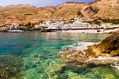 Small coastal village near Chora Sfakion Royalty Free Stock Images