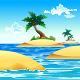 Small coconut island Stock Images