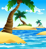 Small coconut island Royalty Free Stock Photography