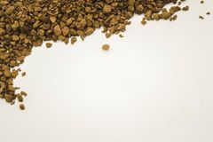 small coffee beans on a clean white background stock photos