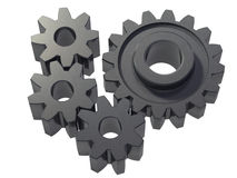 Small cogwheels Stock Images