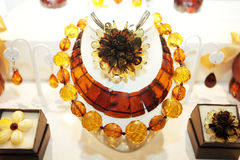 Small Collection of Baltic Amber Royalty Free Stock Photos