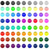 Envelope glass buttons Stock Photos
