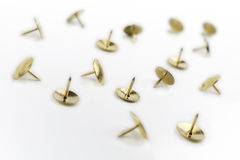 A Small Collection of Thumbtacks In A White Box #1 Stock Images